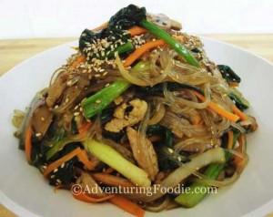 Jap Chae—Korea's Glass Noodle Dish
