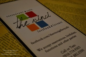 Restaurant Review: Food+Art in The Vinci Cafe