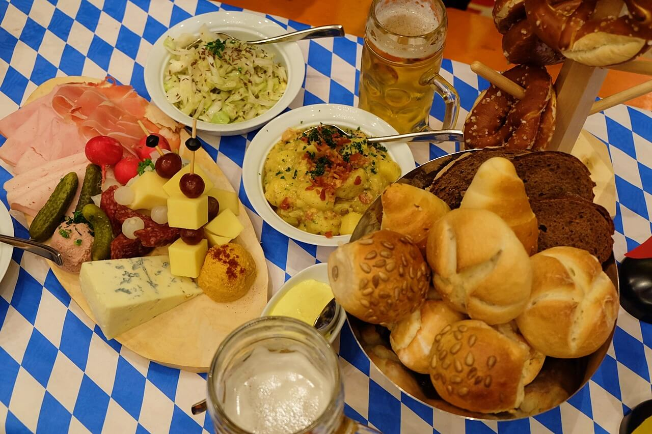 traditional bavarian food -- oktoberfest 2018 philippines